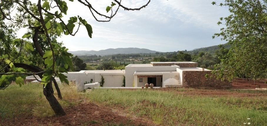 Kelosa Ibiza. Modern finca field sorroundings rural view