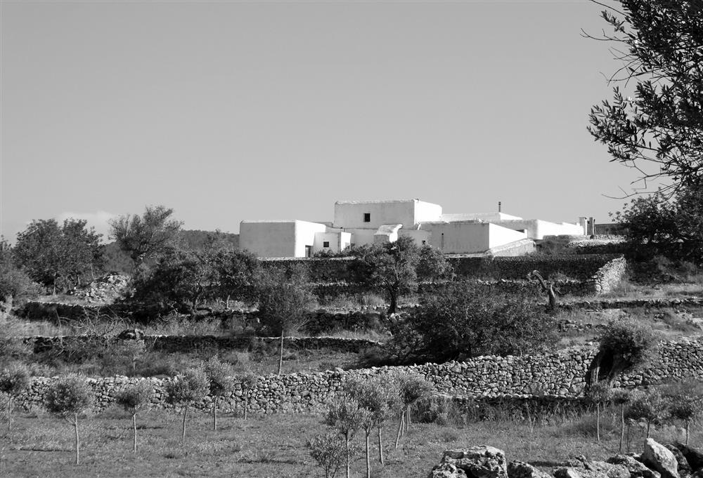 Original finca ibicenca black white old architecture (3)
