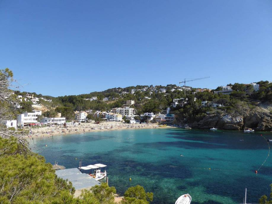 the beach of cala vadella
