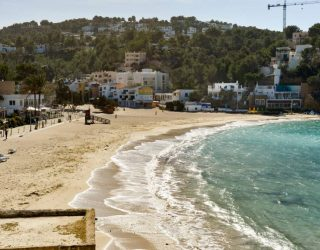 cala vadella in winter beach ibiza in morning