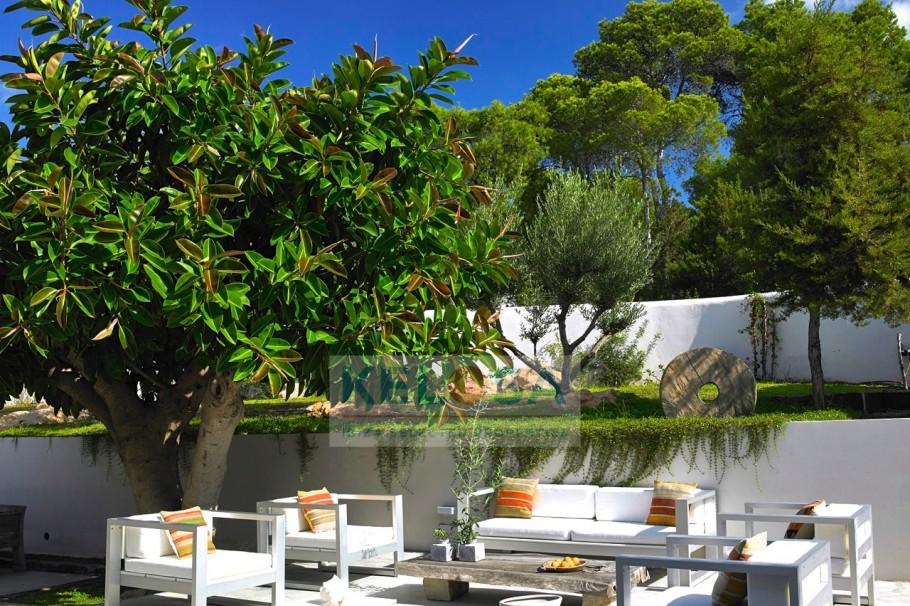 Mediterranean sea view villa near Cala Tarida, Ibiza to rent